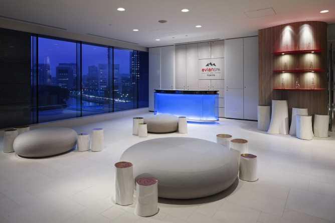 Evian Spa reception