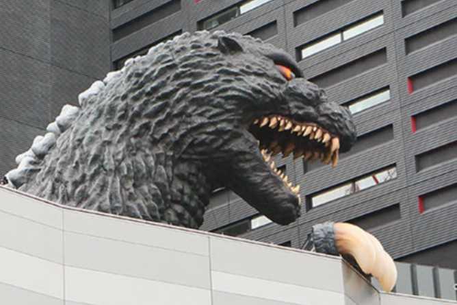 Hotel Gracery's unique Godzilla replica